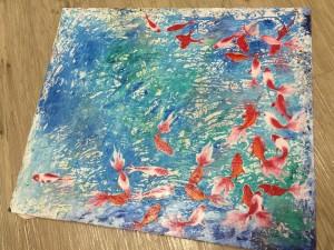 再び「金魚」の絵を描き始めました